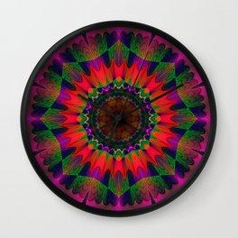 colorful Dream Mandala Wall Clock
