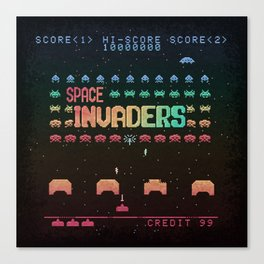 Invader Space Canvas Print
