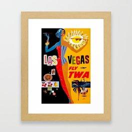 Lady Las Vegas Framed Art Print