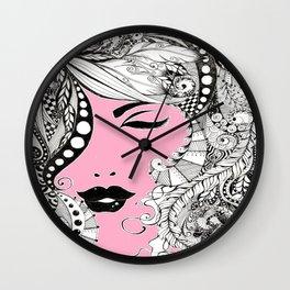 Feme pink Wall Clock