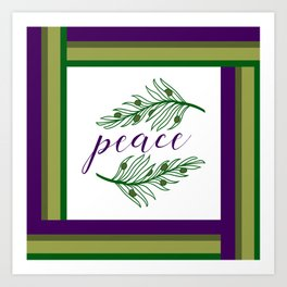 Offer an Olive Branch of Peace Art Print