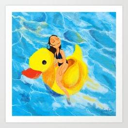 Pool Queen Art Print