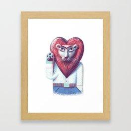 Lion's heart Framed Art Print