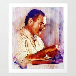 Ernest Hemingway, Literary Legend Art Print
