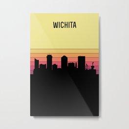 Wichita Skyline Metal Print