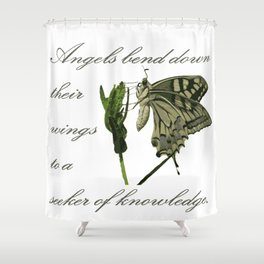 Angels Bend Down Their Wings To A Seeker Of Knowledge Shower Curtain