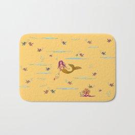 Fashionable mermaid - yellow-orange Bath Mat