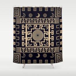 Midnight - Greek Seamless Design Shower Curtain