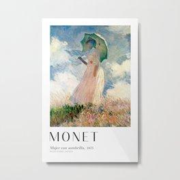 Claude Monet - Woman With Umbrella Metal Print