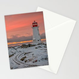 Peggys Winter Sunset Stationery Cards