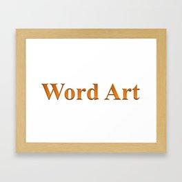 Word Art Framed Art Print