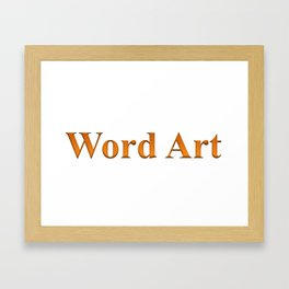 Word Art Framed Art Print