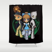 oz Shower Curtains featuring Oz  by Mickey Spectrum