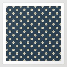 Full Moon Polka Dot Art Print