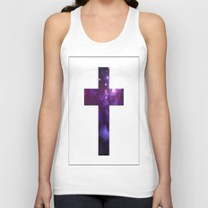 Galaxy Cross Unisex Tank Top