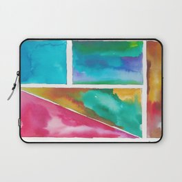 180811 Watercolor Block Swatches 11| Colorful Abstract |Geometrical Art Laptop Sleeve