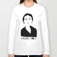 virginia Long Sleeve T-shirts featuring Virginia Woolf by Elena Éper