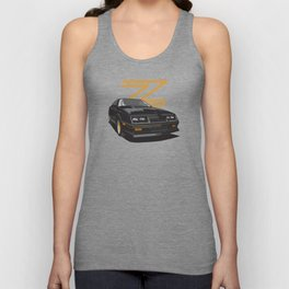 Daytona Turbo Z / CS - black/gold T-top Unisex Tank Top