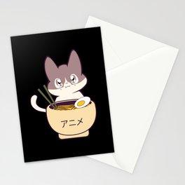 Anime Cat Ramen Stationery Cards