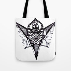 are you living or are you existing? Tote Bag