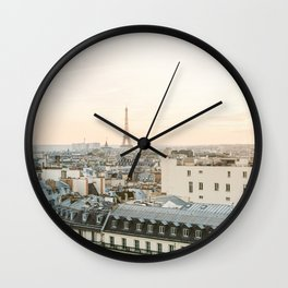 On the rooftops of Paris Wall Clock