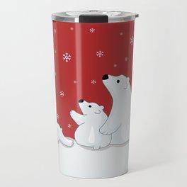 Polar Bear Family Travel Mug