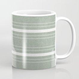 hanover woven stripes - sage Coffee Mug