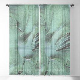 Gladioli Green Sheer Curtain