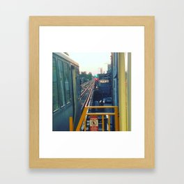 The El at Sunset Framed Art Print