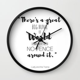 Lady and the Tramp Quote Wall Clock