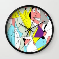 nurse Wall Clocks featuring The nurse by Carmen Navajas