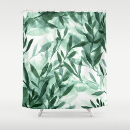 Changes Hunter Green Shower Curtain