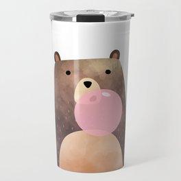 Bear gum, nursery print Travel Mug