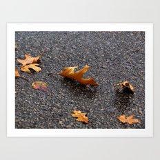Dancing Leaves Art Print