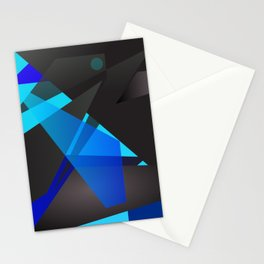 Abstract digital geometric painting for home decoration, frames and clothing. Stationery Cards