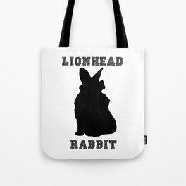 Lionhead Rabbit Silhouette Tote Bag