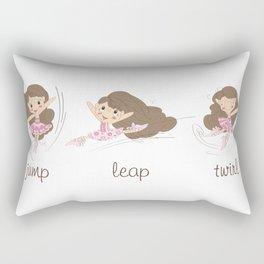 BellaRina - Jump, Leap, Twirl Rectangular Pillow