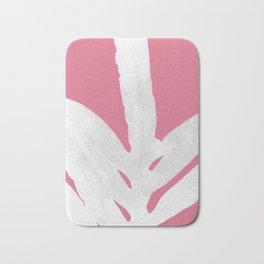 Green Fern on Pale Pink Bashful Inverted Bath Mat