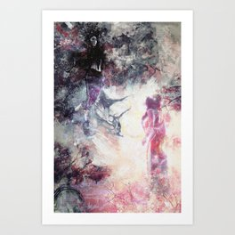 Hades and Persephone: First encounter Art Print