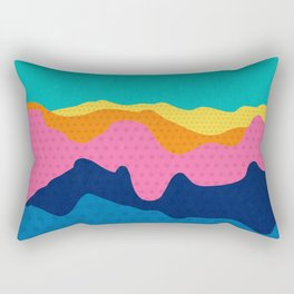 Over The Sunset Mountains III Rectangular Pillow