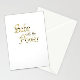 Labyrinth Babe With The Power (white bg) Stationery Cards
