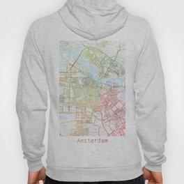Amsterdam Map Art Watecolor by Zouzounio Art Hoody