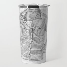 Chambray Shirt Travel Mug