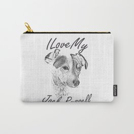 I Love My Jack Russell Carry-All Pouch