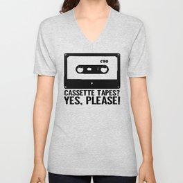 Cassette Tapes? Yes, Please! Unisex V-Neck