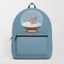 Ice Skating Pig Backpack