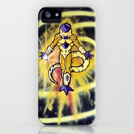 Golden Frieza Attacks! Dragonball Super Spray Painting iPhone Case