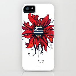 Le logo de Fleur Marine -design graphique- iPhone Case