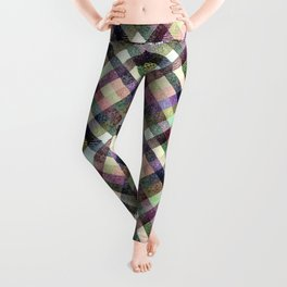Multi - color checkered pattern. Leggings