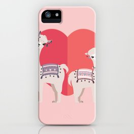 Llama and Alpaca with love iPhone Case